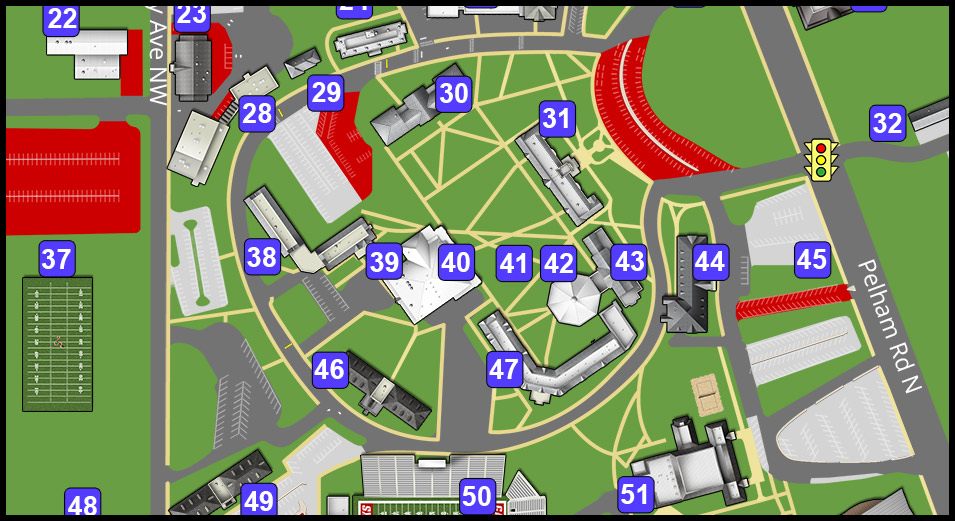 JSU Map with Parking