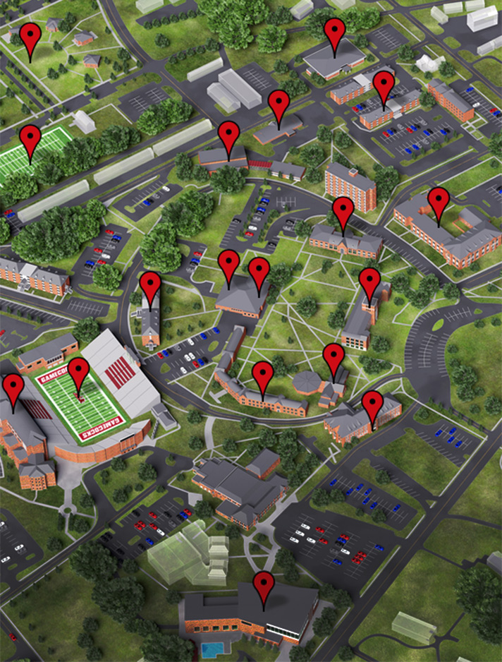 virtual map view of campus