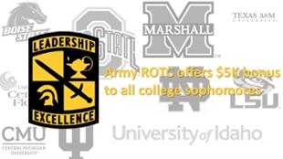 JSU   JSU News   ROTC offers $5K bonus to all qualified